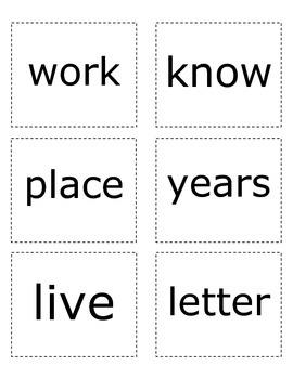 Sight Words- Green List