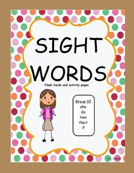 Sight Words Group 10 Package