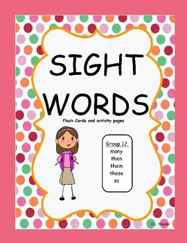 Sight Words Group 12 Package