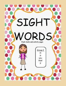 Sight Words Group 2 Package