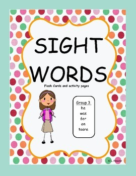 Sight Words Group 3 Package