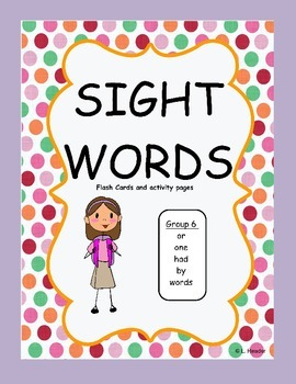 Sight Words Group 6 Package