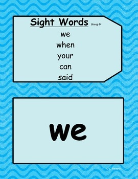 Sight Words Group 8 Package