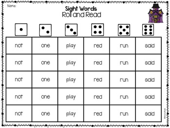 Sight Words / Word Work / Sight Word Worksheets