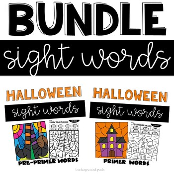 Sight Words Halloween | Pre-Primer and Primer Words