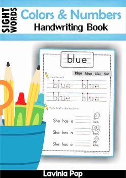 Sight Words Handwriting Book (Colors and Numbers)