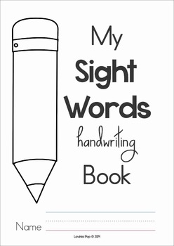 Sight Words Handwriting Book (Primer Words)