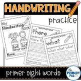 Handwriting Practice: Primer List Sight Words