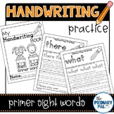 Handwriting Practice: Primer List Sight Words