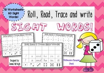Sight Words Handwriting Sheets ~ Miss Mac Attack ~