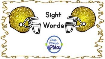 Sight Words Helmets