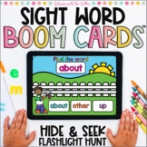 Sight Words Hide & Seek Flashlight Hunt Boom Cards™ | Set 1