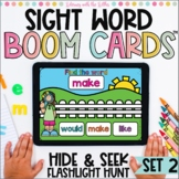 Sight Words Flashlight Hunt Boom Cards™ | Set 2