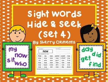 Sight Words Hide & Seek (Set 4)