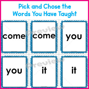 Sight Words | High Frequency Words Kindergarten Game Pre-Primer