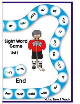 Sight Words - Hockey Themed Sight Word Bundle