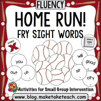 Sight Words - Home Run! Fry Sight Words