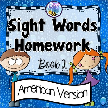 Sight Words Homework Book 2 – American Version