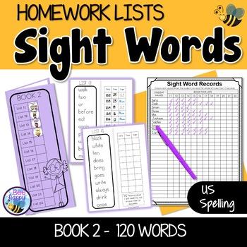 Sight Words Homework Book 2 – American Version