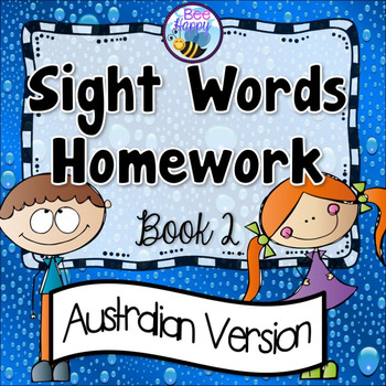 Sight Words Homework Book 2 Australian Version
