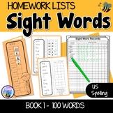 Sight Words Homework Book 1 – American Version