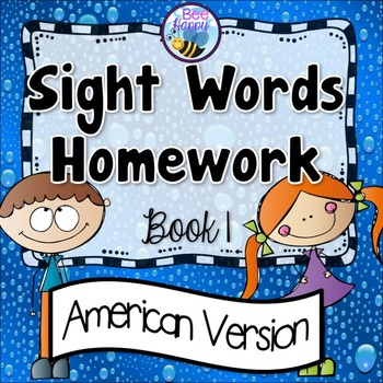 Sight Words Homework Book 1 – American Version