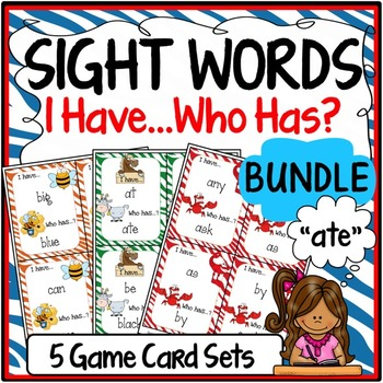 Sight Word Practice {Sight Word Games - I Have, Who Has Format}