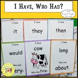 Sight Words I Have, Who Has Games