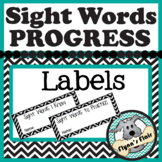 """Address-sized Labels: """"Sight Words I Know"""" and """"Sight Word"""