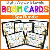 Sight Words I Spy Bundle 5 Levels    Boom Cards™ Digital Task Cards