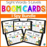 Sight Words I Spy Bundle 5 Levels  | Boom Cards™ Digital T