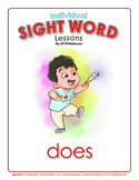 Sight Words Individual Lessons - Does