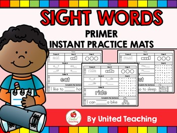Sight Words Instant Practice Mats - Primer Sight Words