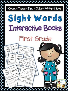 Sight Words Interactive Books - First Grade