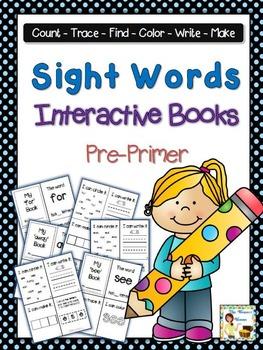Sight Words Interactive Books Pre-Primer