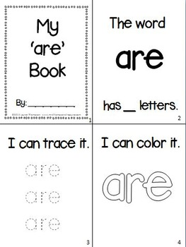Sight Words Interactive Books Primer