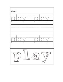 Sight Words Interactive Notebook #2 (Kindergarten-1st) 26 Words!!!