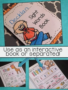 Sight Words - High Frequency Words - Interactive Notebook