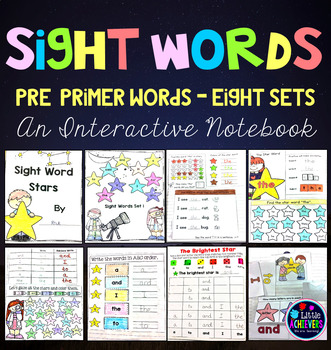 Kindergarten Sight Words Activities Interactive Notebook (Pre-Primer Words)