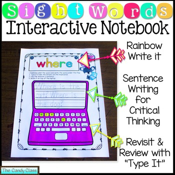 Sight Words Interactive Notebook Bundle (Over 300 Sight Words!)