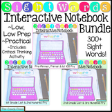 Sight Words Activities Interactive Notebook Bundle (Over 300 Sight Words!)