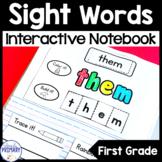 Sight Words Interactive Notebook: First Grade List