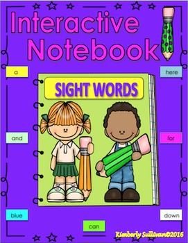Sight Words Guided Reading practice Interactive Notebook