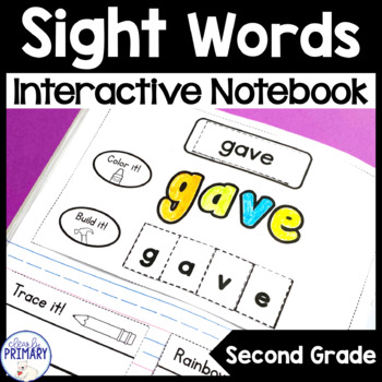 Sight Words Interactive Notebook: Second Grade List