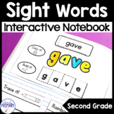 Sight Words Interactive Notebook | Second Grade List