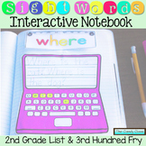 Sight Word Interactive Notebook- Second Grade List & 3rd 1
