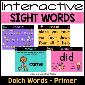 Sight Words Interactive Powerpoint - Dolch Primer