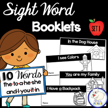 Sight Word Interactive Readers: Set 1 Books