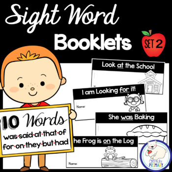Sight Word Interactive Readers: Set 2 Books