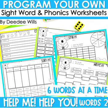 Sight Words Intervention 2 BIG WORDS ~ Editable! Help Me! Help You!